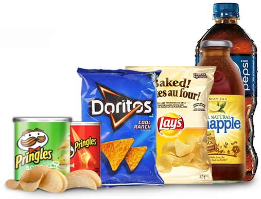 Vending food and snack products