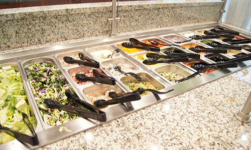 atrium grill salad bar